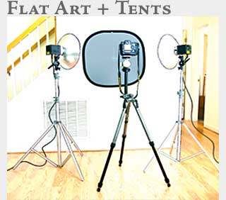 M2 Online Learning Photographing Flat Art and Lightning Tents