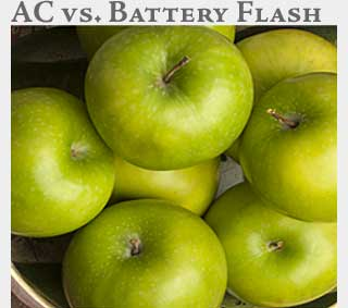 M2 Media Online Learning AC Flash vs. Battery Flash
